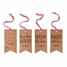 Vintage Style Luggage Gift Tags, For Home Made Gifts, Cakes & Jams - pack of 9
