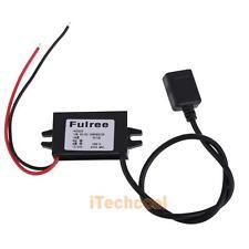 Single USB 12V 24V to 5V DC/DC Step-down Power Adapter Converter Inverter #T1K