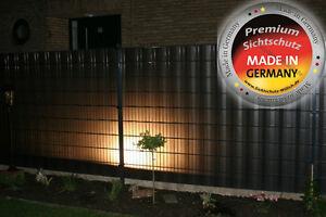 Sichtschutz DELTA für Doppelstabmatte 26m lfd anthrazit lichtdurchlässig Garten