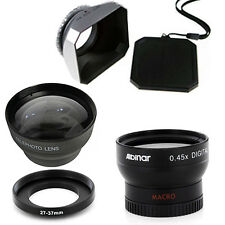 27mm Wide Angle and Telephoto Lenses, DV-s Hood for Canon DC10, DC20, Elura 100