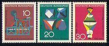 Germania 1968 SCIENZA/Stampa/Cristalli/Lens 3 V (n29607)