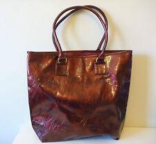 ESTEE LAUDER Wine Colour Makeup Should Tote Bag, Faux Patent Leather, Brand NEW