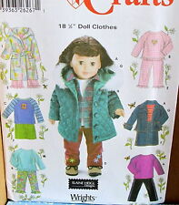 Elaine Heigl doll clothes pattern coat robe pajama denim jacket pants 18""
