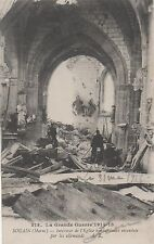 POSTCARD  MILITARY WWI  SOUAIN  Interior of the Church after the bombing