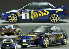 subaru impreza 555 mcrae wrc vinyl decal/sticker kit, in any colour, full set