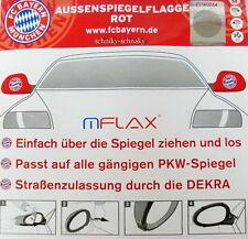 FC Bayern München Auto Aussenspiegelfahnen Rot LOGO Gr. M NEU