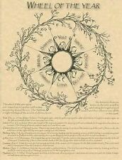 WHEEL OF THE YEAR POSTER - Wicca Pagan Witch Witchcraft Pagan Goth Goddess