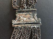 Antiguo Charivari Percha Adorno De Traje 18/19 Siglo Granjero Caballo Fuhrmann
