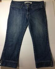 WOMENS GAP ULTRA LOW RISE CROPPED STRETCH CAPRI JEANS Sz 6 R  FREE SHIPPING