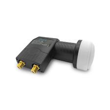 HD Twin LNB Sat 4K Digital 2 Teilnehmer Wettertschutz vergoldet UHD 0,1 dB Lmb