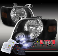 FOR 06-10 FORD EXPLORER/07+ SPORT TRAC REPLACEMENT HEADLIGHT LAMP BLACK +10K HID