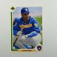 1991 Upper Deck #526 Baseball Card MLB Greg Vaughn Milwaukee Brewers