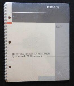 HEWLETT PACKARD HP 83711A 83712A 8311B 12B SYNTHESIZED CW GENERATOR GUIDE MANUAL