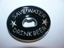 Save water drink beer buckle with small black belt