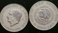 MEXICO / 10 PESOS - 1956 / SILVER COIN