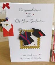 Personalised Graduation Card Son/Daughter & Real Scroll GIFT BOXED-red ribbons