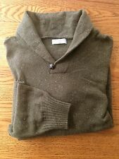 DOCKERS Sample Collared Sweater Mossy Brown Heather Size M New Sample