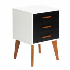 Bedside Table Cabinet Bedroom Lamp Side Nightstand Unit High Gloss Matt Black