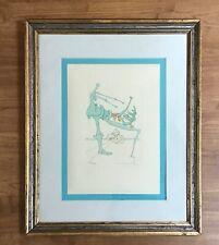 Salvador Dali Silhouette En Vert Colored Intaglio Edition Lithograph Signed COA