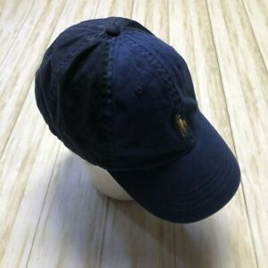 Polo Ralph Lauren Blue Baseball Cap Hat Brown Pony Adjustable OSFA