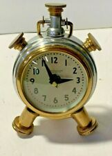 Pendulux Sprout Table Clock - Polished Aluminum Brass 1940's Dial