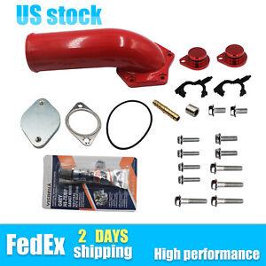 For 2008-2010 Ford F Powerstroke 6.4L Diesel Intake Elbow Diecast Valve Kit