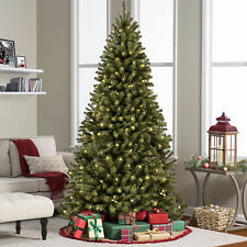 BCP 6ft Pre-Lit Spruce Hinged Artificial Christmas Tree w/ Stand - Green