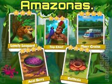 Full New Amazonas Set ( Fast Delivery ) Coin Master Cards