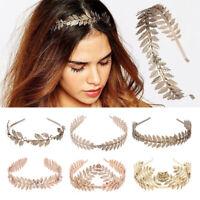 Women Laurel Leaf Hair Hoop Headband Bride Crown Hairband Headwear Wedding Party