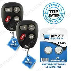 SCITOO 5 Buttons Black Key Fob Keyless Entry Remote fit for Chevry Impala Monte Carlo for Buick Lucerne Cadillac CTS STS Pack of 1