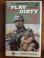 PLAY DIRTY MICHAEL CAINE NIGEL DAVENPORT HARRY ANDREWS  RARE PAL VHS VIDEO