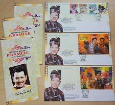 1999 Malaysia Artist Supreme P. Ramlee 4v Stamps & 2 MS on 3 FDC (KL Cachet)
