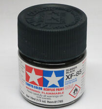 Tamiya TIRE RUBBER BLACK  Acrylic Hobby Model Paint XF-85 Mini 10ml Bottle 81785