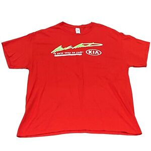 Mark Martin Kia Dealership Batesville Arkansas - Red Men's T-Shirt (XL) NASCAR