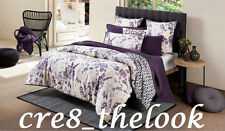 SHERIDAN ABIGALE QUEEN QUILT COVER SET IN FIG FULLY REVERSIBLE