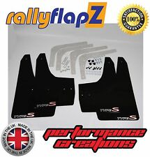 Mud Flaps HONDA CIVIC TYPE S (FN2) rallyflapZ 07-11 Black 4mm PVC Type S Logo