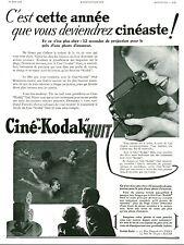 Publicité ancienne photo Ciné-KODAK Huit 1936