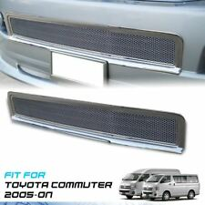 Chrome Front Bumper Net Grille Grill ABS V.1 For Toyota Hiace Commuter 2005-On