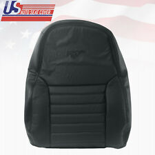 2001 2002 Ford Mustang GT Coupe Driver Lean Back Perforated Leather Cover Black