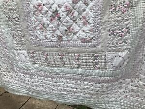American Quilt Ditsy Floral Patchwork Reversible King Bedspread Quilt Cotton