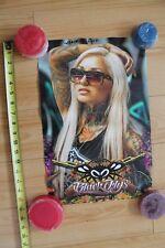 Black Flys Sunglasses Shades Eyewear Sexy Tattoo Girl Catalog 12x18in. Poster