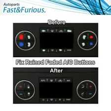 AC Dash Button Repair Kit Decal Stickers For Silverado Sierra tahoe Chevrolet