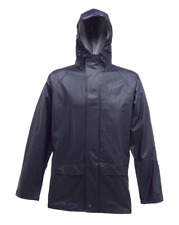Regatta Mens Stormflex Waterproof Zip Hooded Jacket Rubber Rain Coat