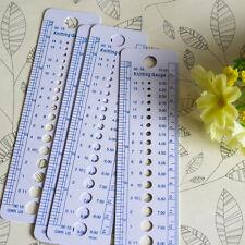 2pcs Knitting Needle Gauge Sizer Measure