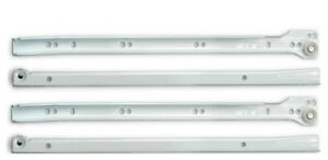 METAL ROLLER BOTTOM FIX DRAWER RUNNERS from 250mm to 500mm