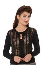 Normalgröße Damen-Pullover & -Strickware mit Rundhals-Ausschnitt aus Spitze