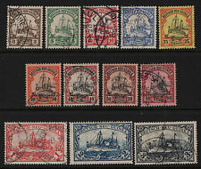 OPC 1901 German New Guinea Short Set #7-18 Used Sound Some Signed