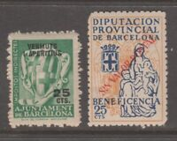 Spain Fiscal Revenue stamp 2-28c-21 all are mnh gum and scarce mnh gum (right)