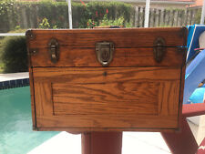 Antique quarter-sawn oak 7 drawer tool box. Made for Star Chests