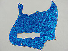 D'ANDREA PRO JAZZ BASS PICKGUARD 10 HOLE BLUE SPARKLE MADE IN THE USA